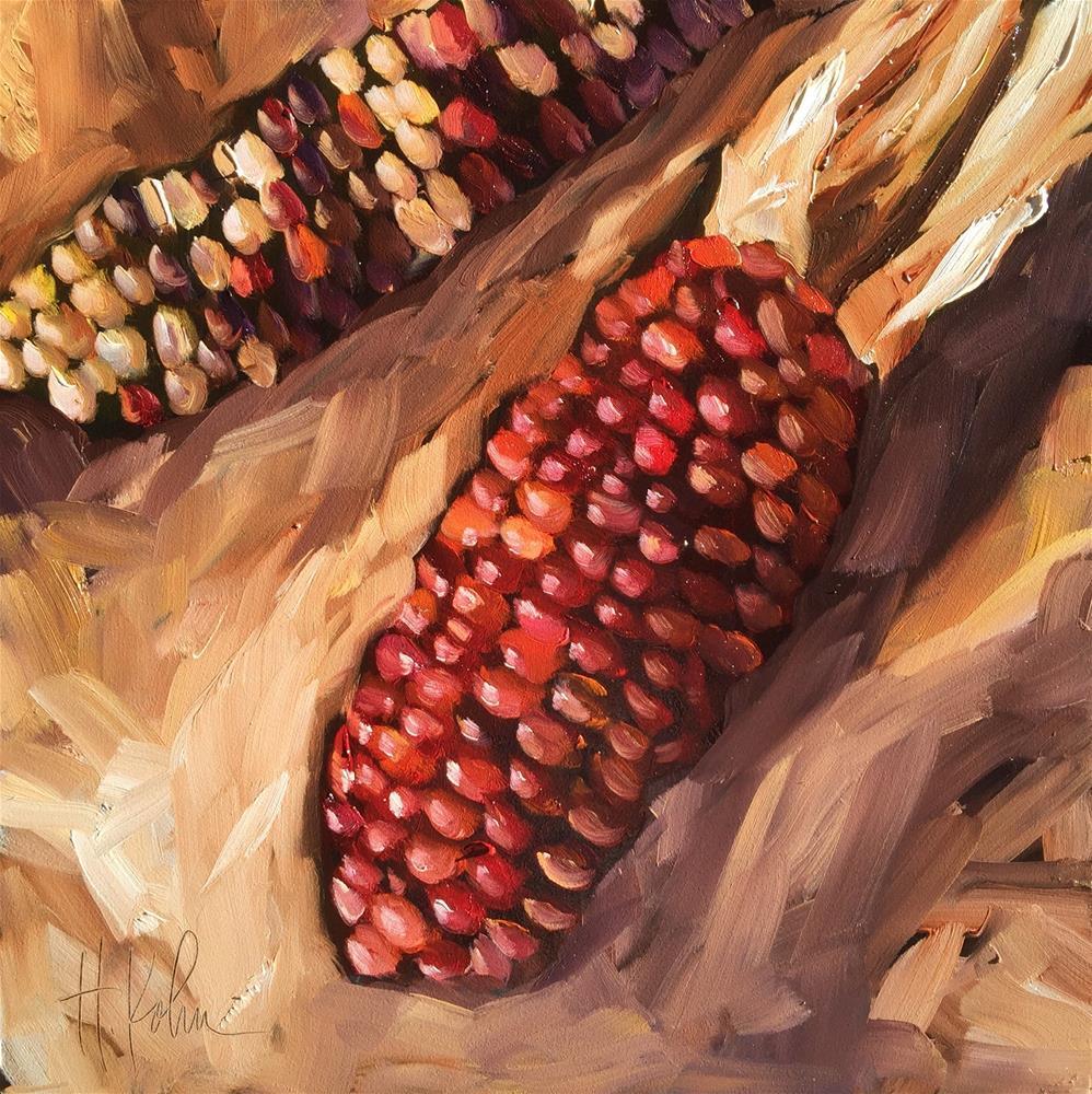 """Indian Corn"" original fine art by Hallie Kohn"