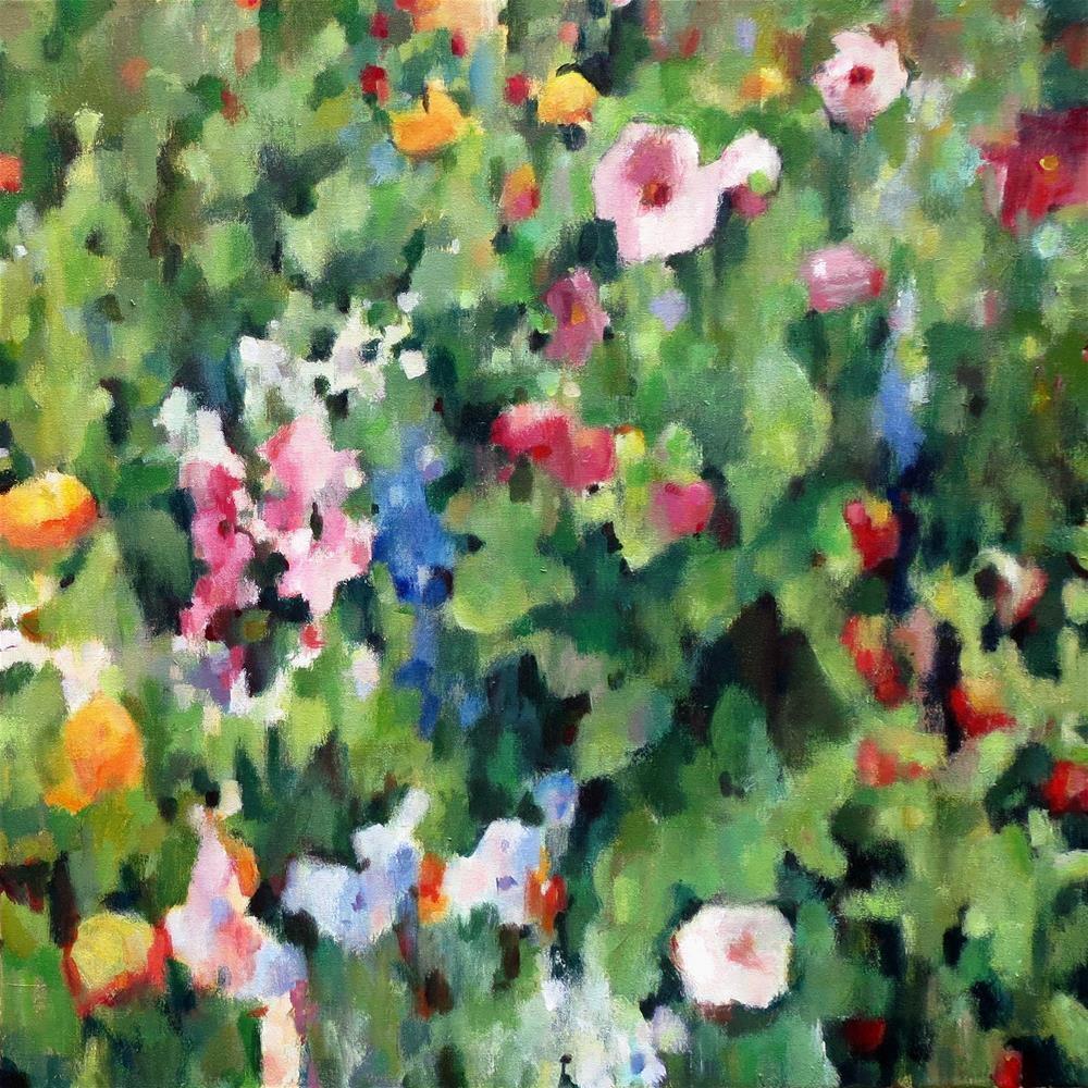 """Wildflower Abstract 6"" original fine art by Nava Judith"