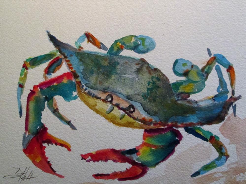 """Blue Crab No. 13"" original fine art by Delilah Smith"