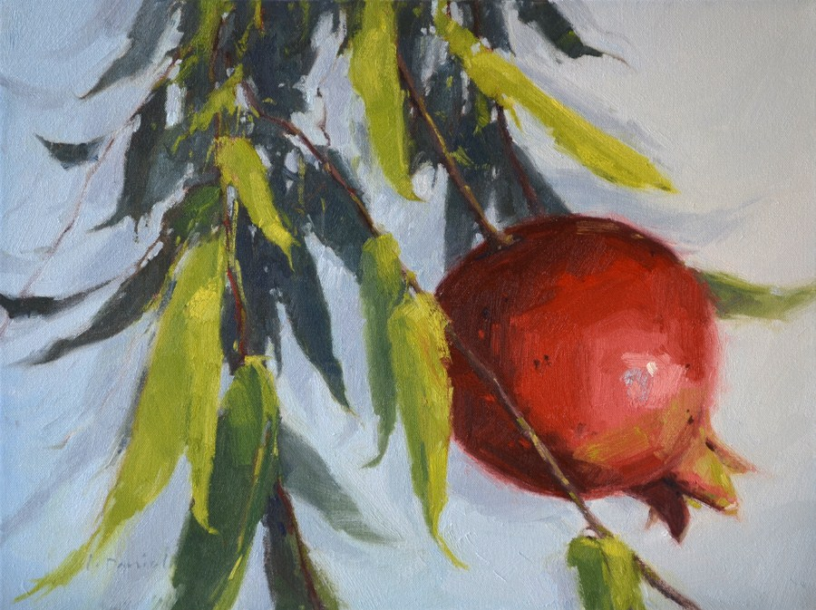 """Dangling Fruit"" original fine art by Laurel Daniel"