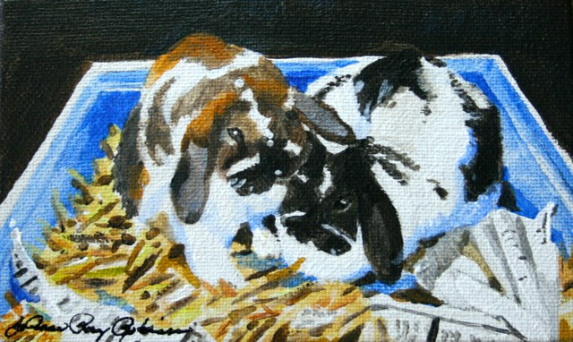 """Bunny Box"" original fine art by JoAnne Perez Robinson"