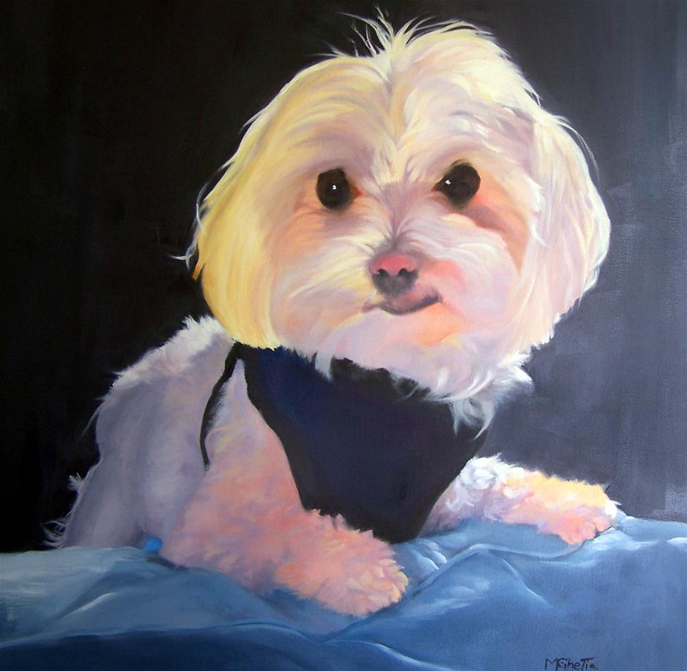 """Who's Your Doggy Now?"" original fine art by Maureen Ghetia"