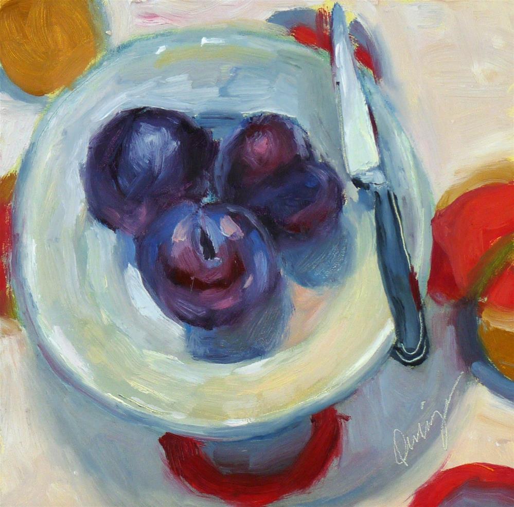 """Plum Crazy"" original fine art by Sharman Owings"
