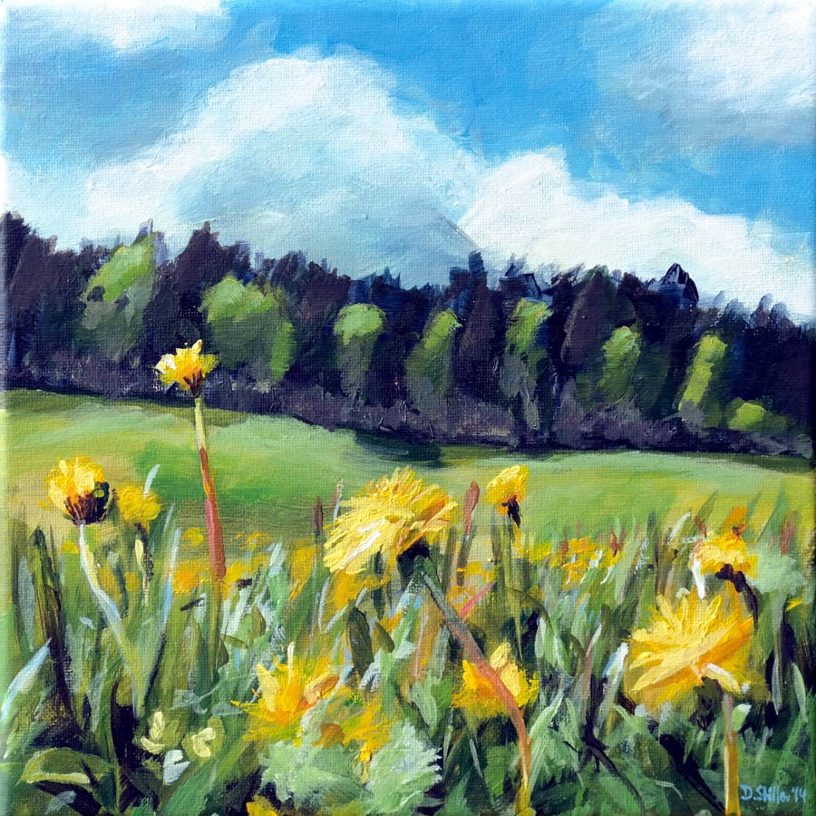 """0997 Meadow's Edge"" original fine art by Dietmar Stiller"