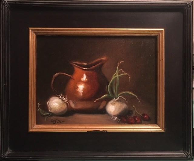 """""""Pitchers with Onions"""" original fine art by Cheryl J Smith"""
