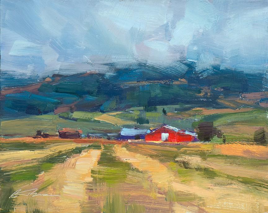 """Snake River Valley"" original fine art by Charles Thomas"