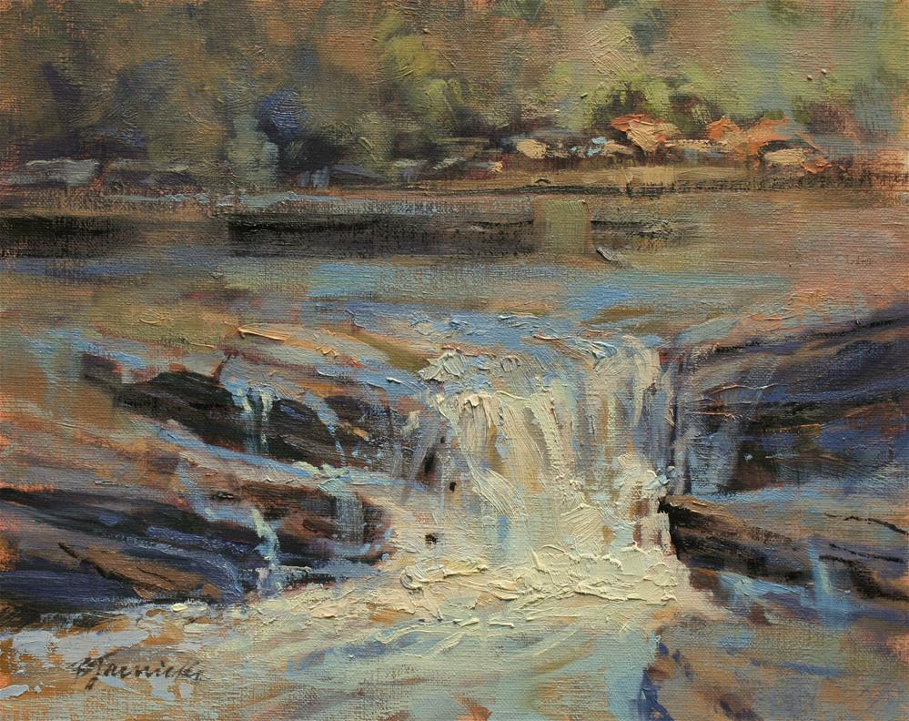 """Vickery Creek Harmony"" original fine art by Barbara Jaenicke"