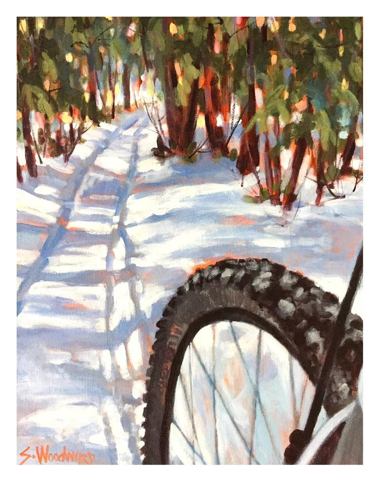 """""""So Nice On Snow And Ice"""" original fine art by Suzanne Woodward"""