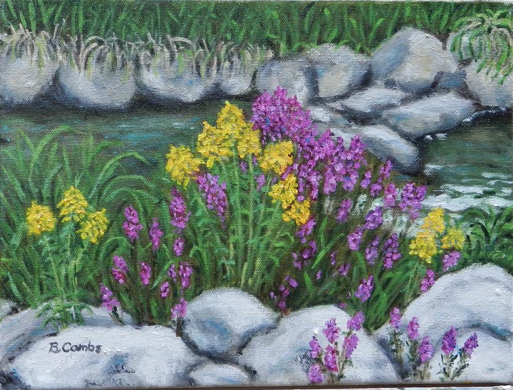"""Mill Creek in Early Fall"" original fine art by Bebe Combs"
