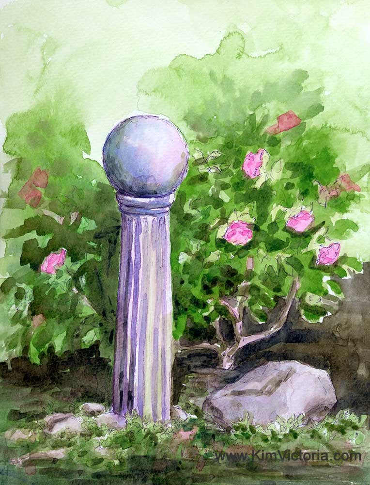 """Gazing Ball #2"" original fine art by Kim Victoria"