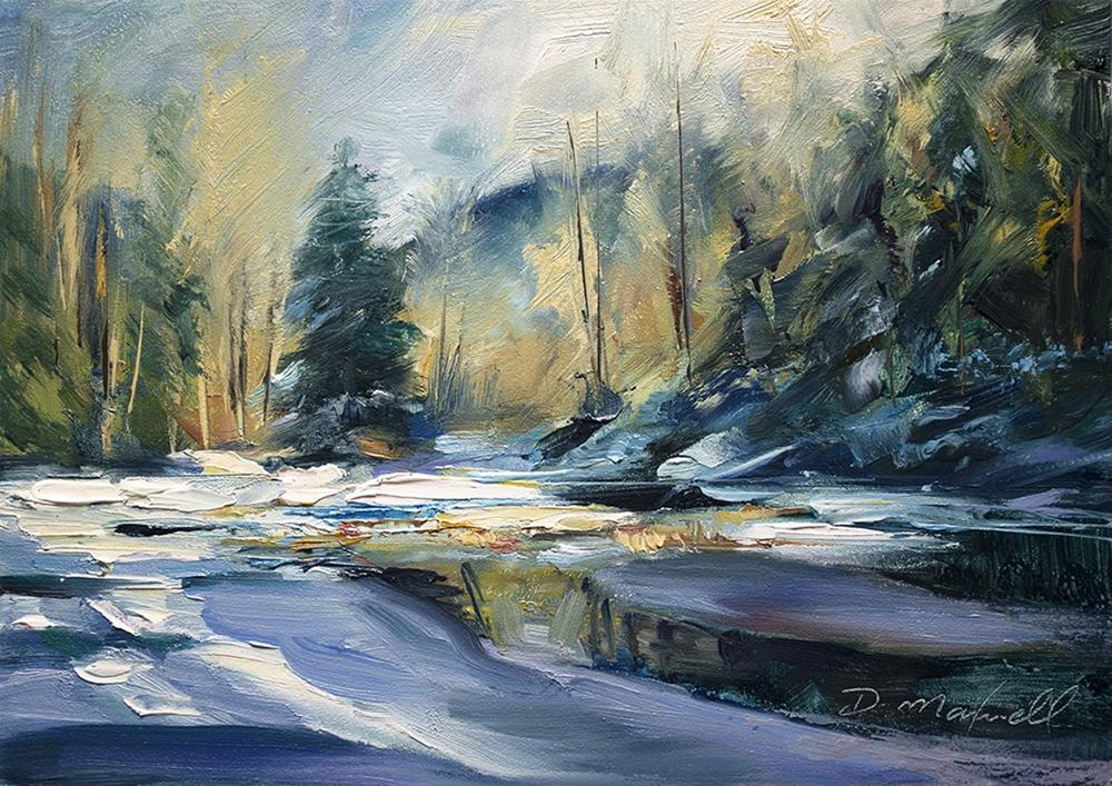 """""""Ice on Pond"""" original fine art by Denise Maxwell"""