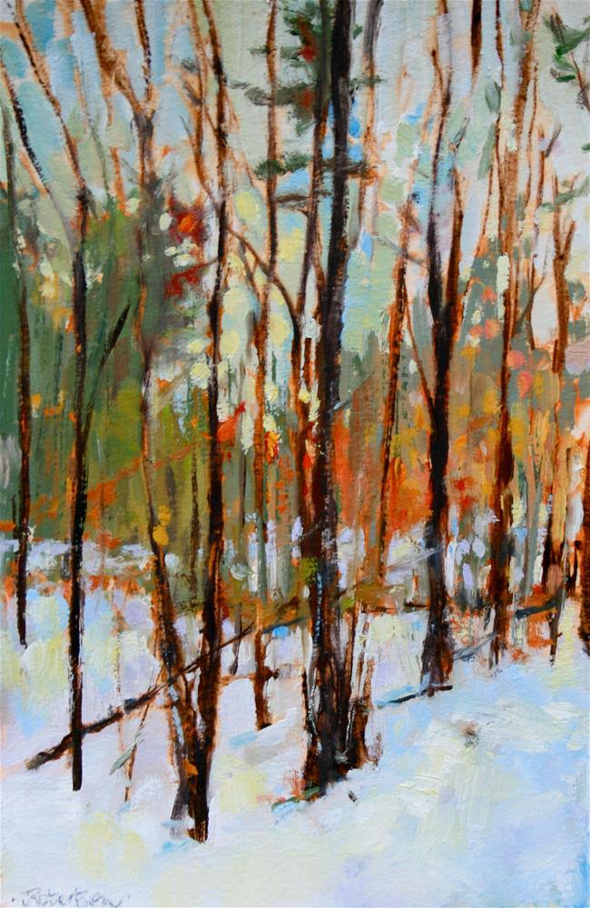 """Late Winter Forest"" original fine art by Jane Robertson"