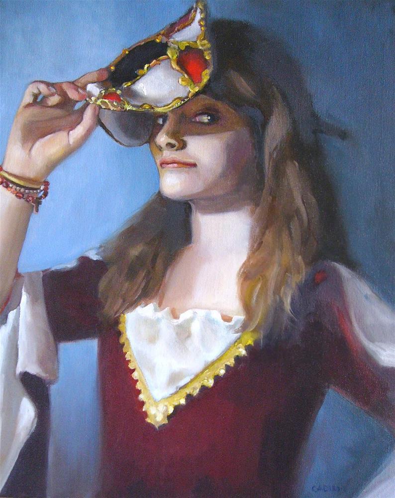 """Masquerade Over"" original fine art by Christine Angelotta Dixon"