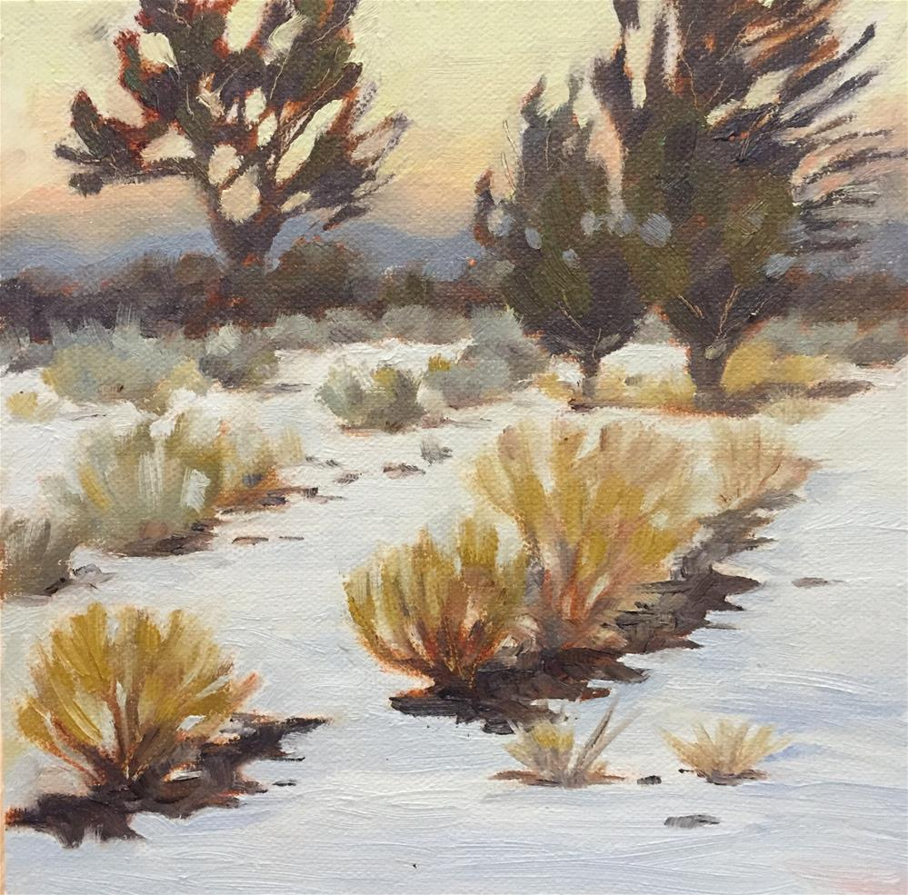"""Snow in a desert"" original fine art by Natasha Ramras"