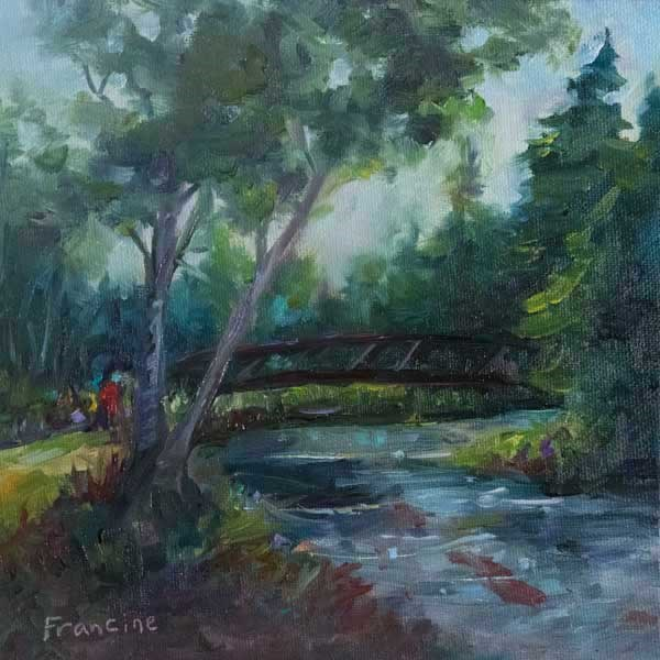 """Folkner Park"" original fine art by Francine Dufour~Jones"