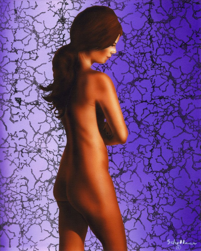 """""""Nude Study with Pattern"""" original fine art by Fred Schollmeyer"""