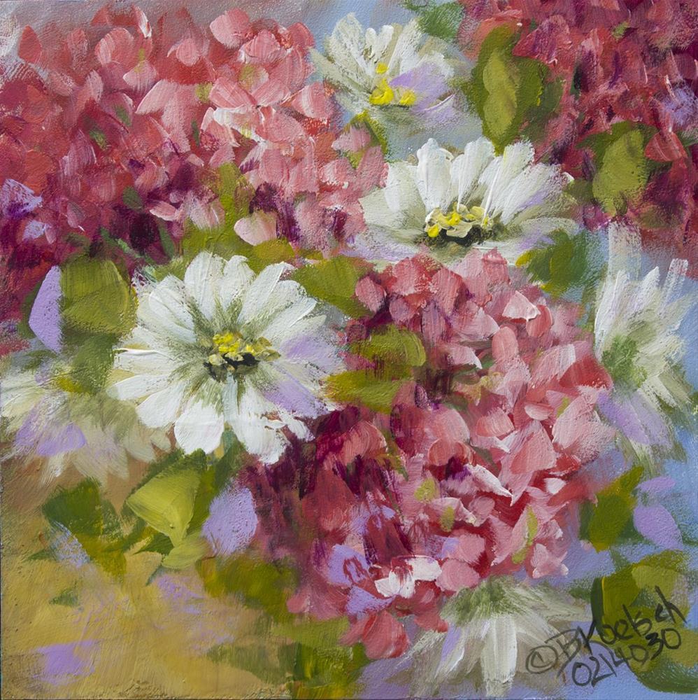 """""""Happy Geraniums"""" original fine art by Bobbie Koelsch"""