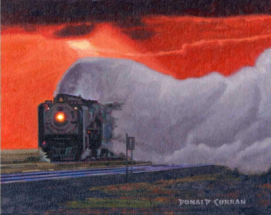 """Leaving a Trail"" original fine art by Donald Curran"