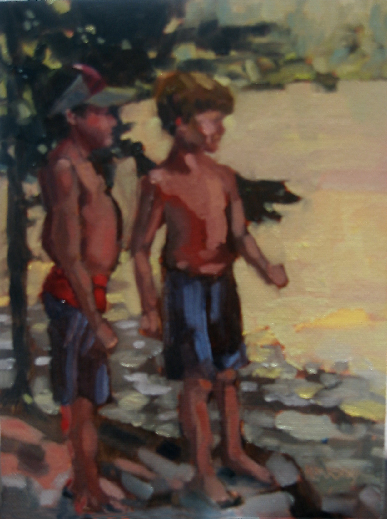 """Double Trouble"" original fine art by Nancy Parsons"