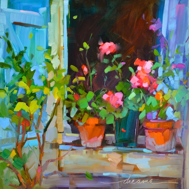 """""""Inside Out"""" original fine art by Dreama Tolle Perry"""