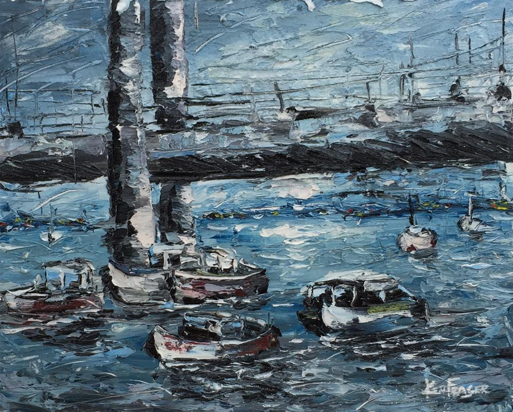 """""""Under The Bridge"""" original fine art by Ken Fraser"""
