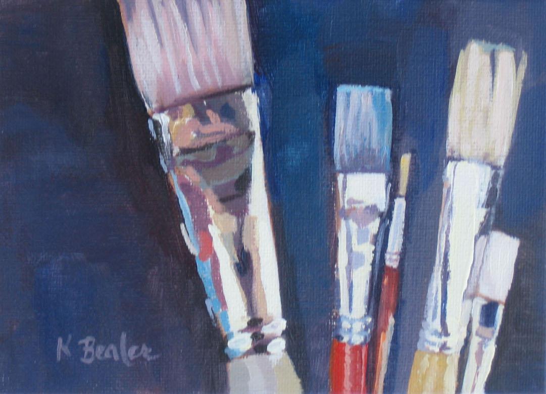 """""""Brushes"""" original fine art by Kaethe Bealer"""