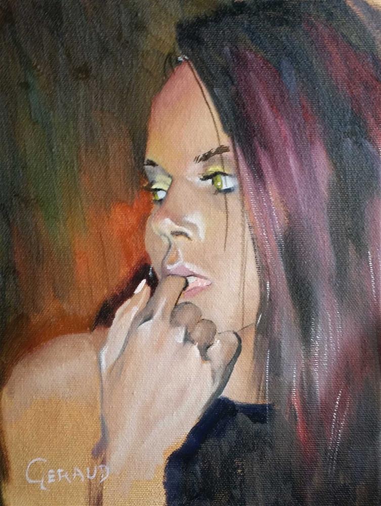"""Pensive"" original fine art by Geraud Staton"