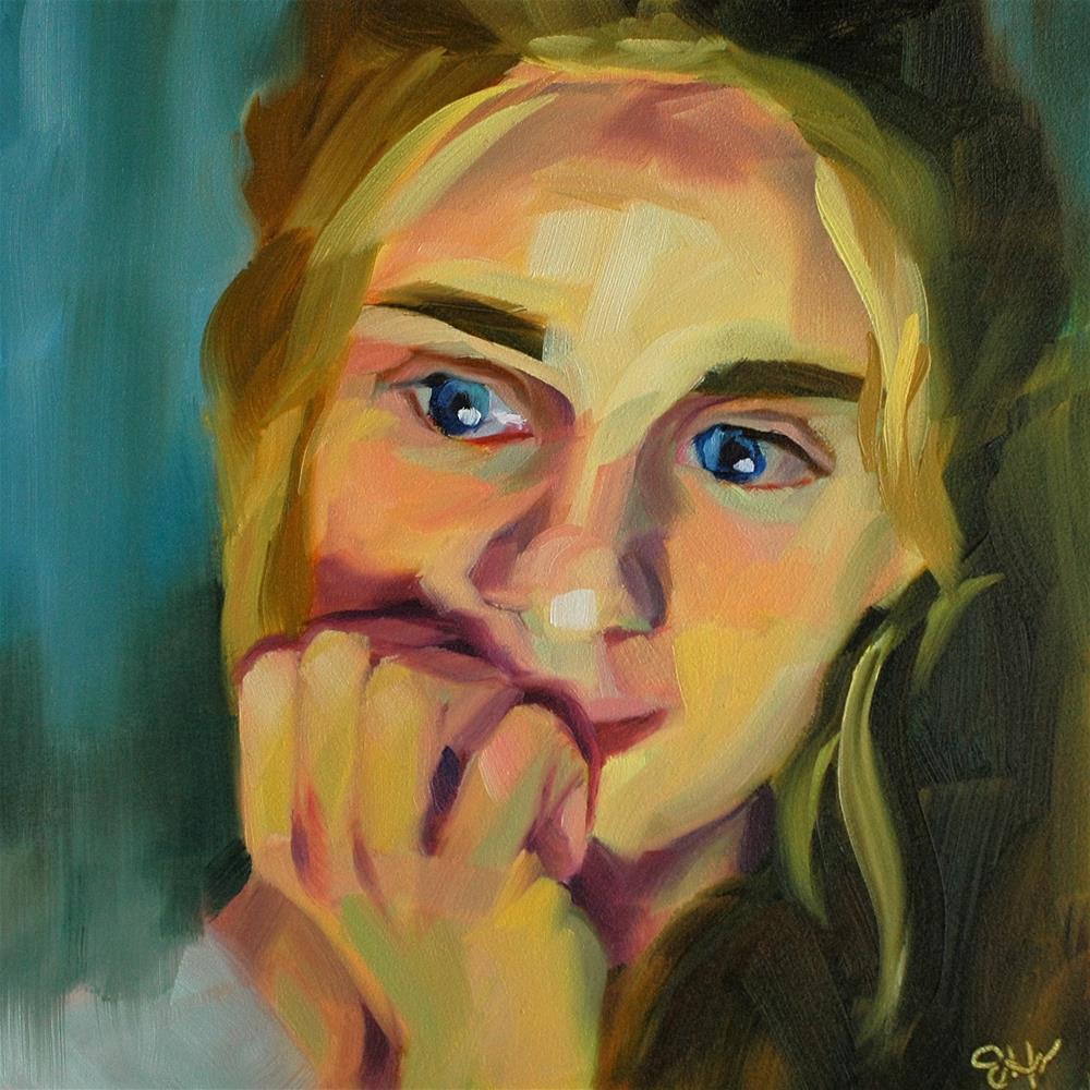 """Anticipation"" original fine art by Janette Harter"