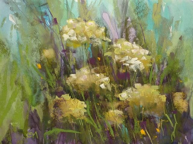 """""""Get Beautiful Watercolor Underpaintings en Plein Air"""" original fine art by Karen Margulis"""