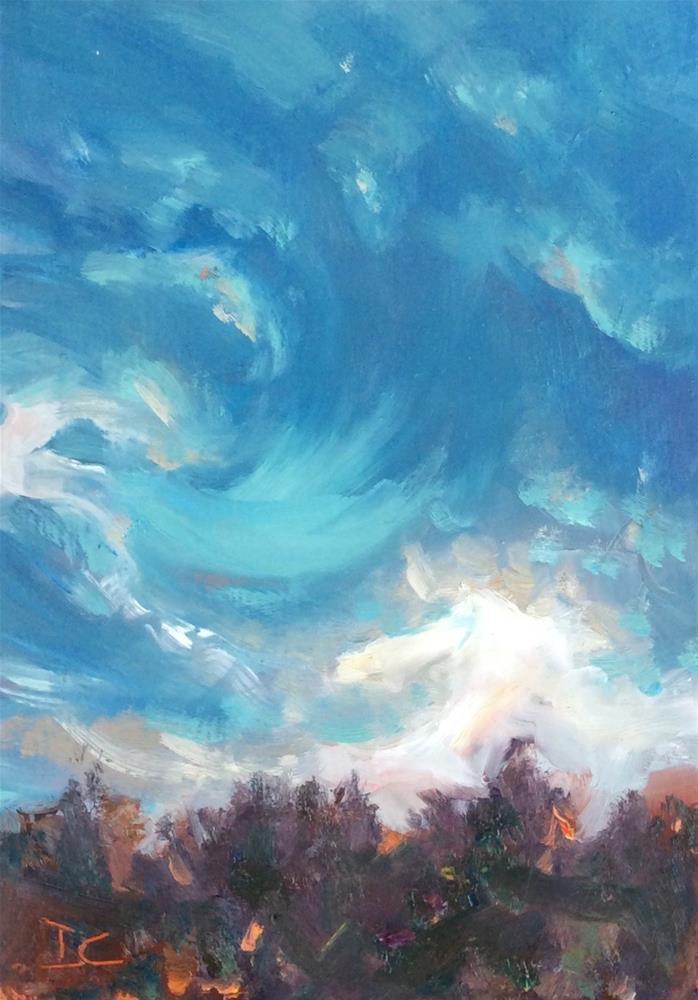"""""""WINDY"""" original fine art by Doug Carter"""