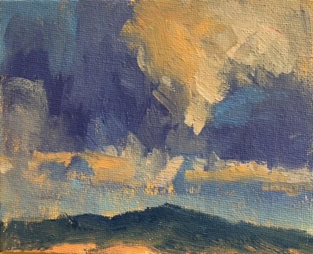 """""""Ten Tiny Cloudscapes #1"""" original fine art by Victoria  Biedron"""