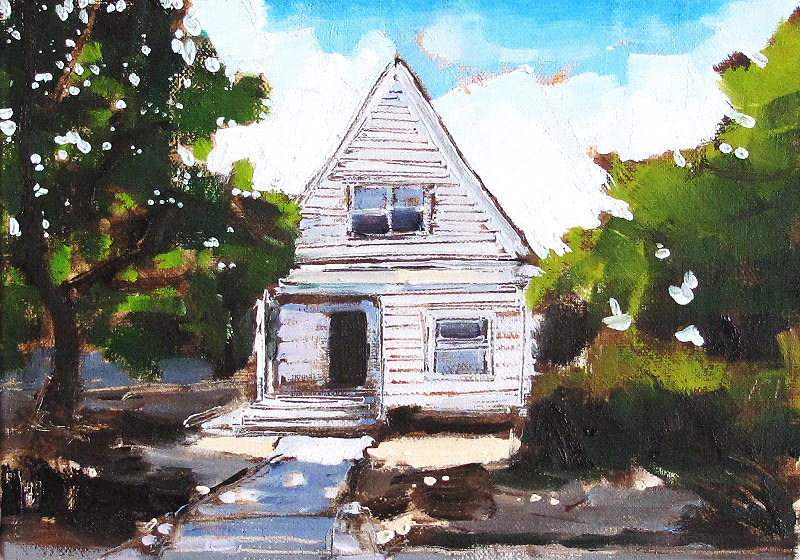 """""""Craftsman House- Painting of San Diego"""" original fine art by Kevin Inman"""