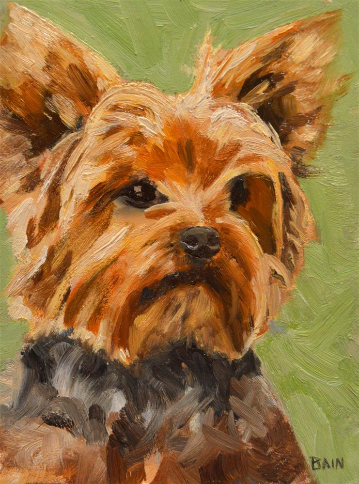 """Wicket"" original fine art by Peter Bain"
