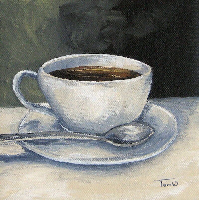 """Coffee"" original fine art by Torrie Smiley"
