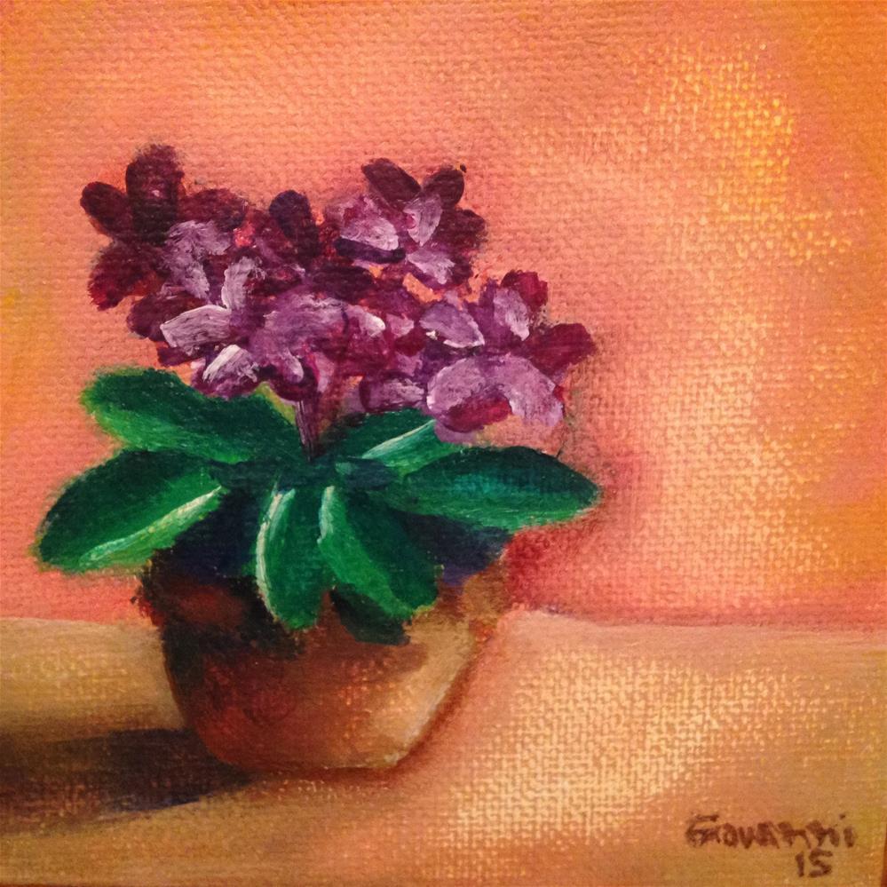 """Violets"" original fine art by Giovanni Antunez"