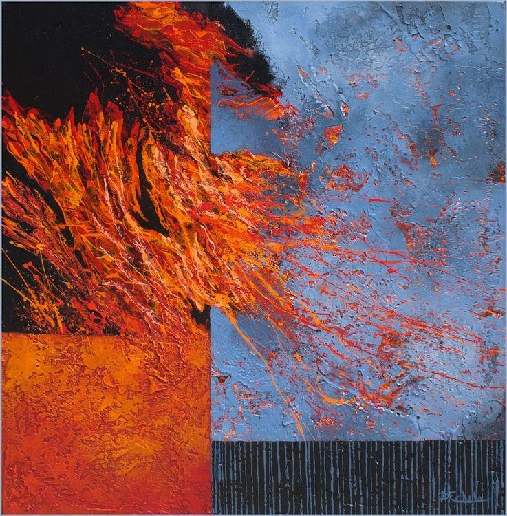"""""""Kinetic"""" original fine art by Nancy Eckels"""