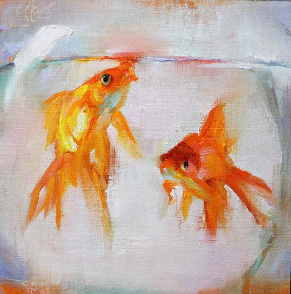 """Fishbowl"" original fine art by Pamela Blaies"
