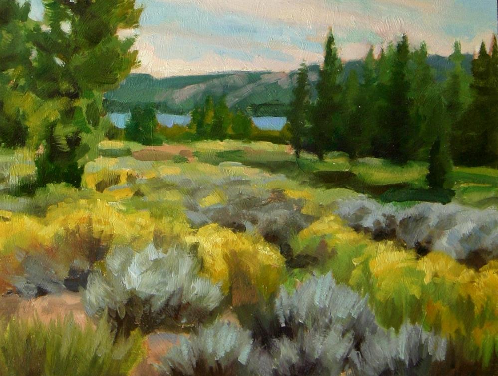 """""""Sage brush and Trees"""" original fine art by K.R. McCain"""