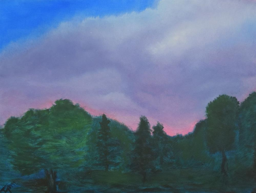 """Storm Coming Up At Dusk"" original fine art by Tisha Mark"