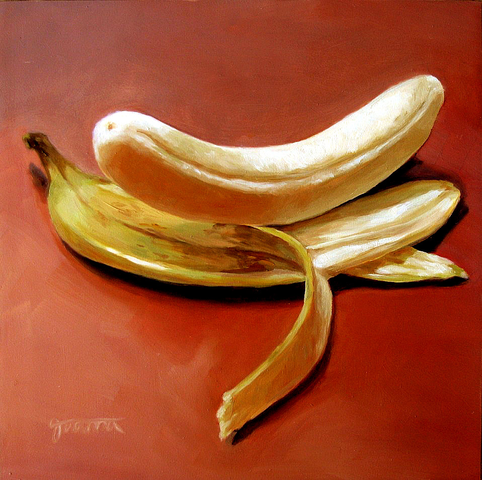 """Self Tanning Banana-2"" original fine art by Joanna Bingham"