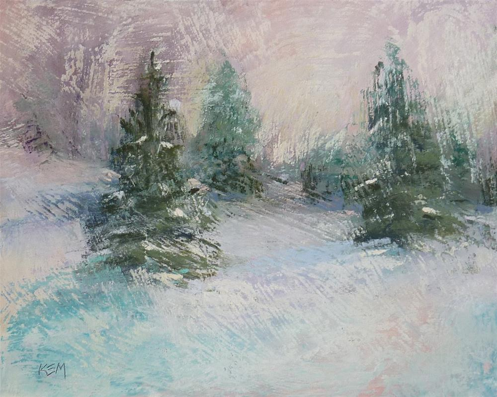 """Holiday Art Winter Landscape"" original fine art by Karen Margulis"