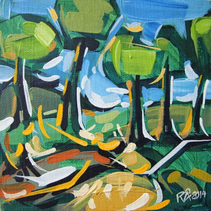 """Forest Exploration 16"" original fine art by Roger Akesson"