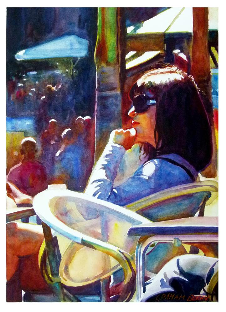 """""""Time to think."""" original fine art by Graham Berry"""