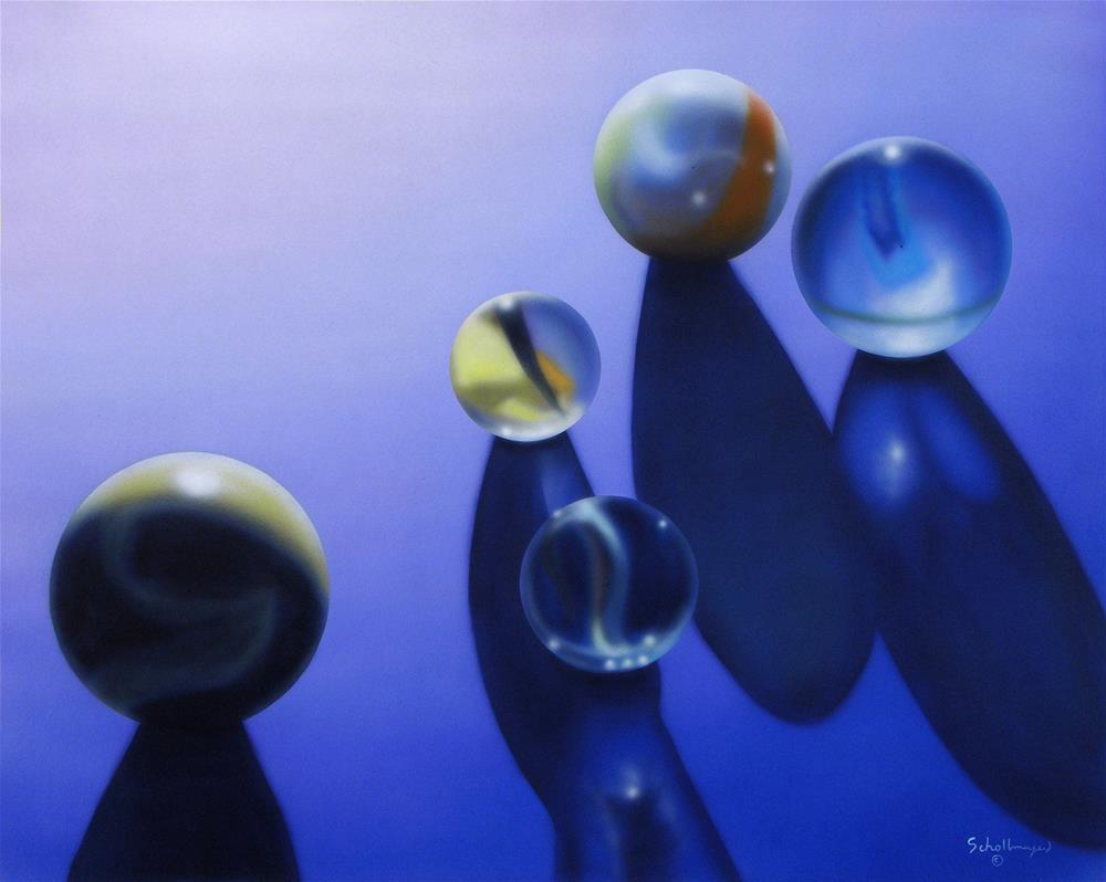 """""""Marbles # 7"""" original fine art by Fred Schollmeyer"""