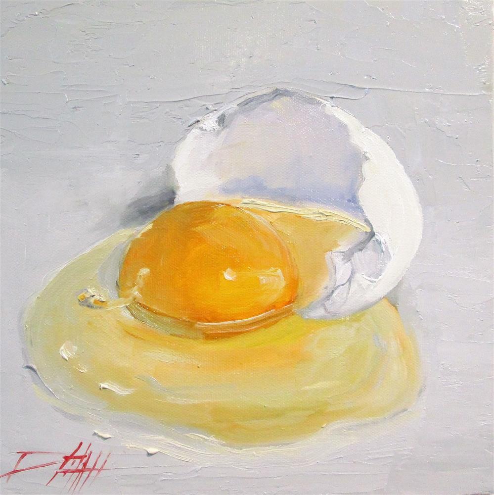 """Broken Egg"" original fine art by Delilah Smith"