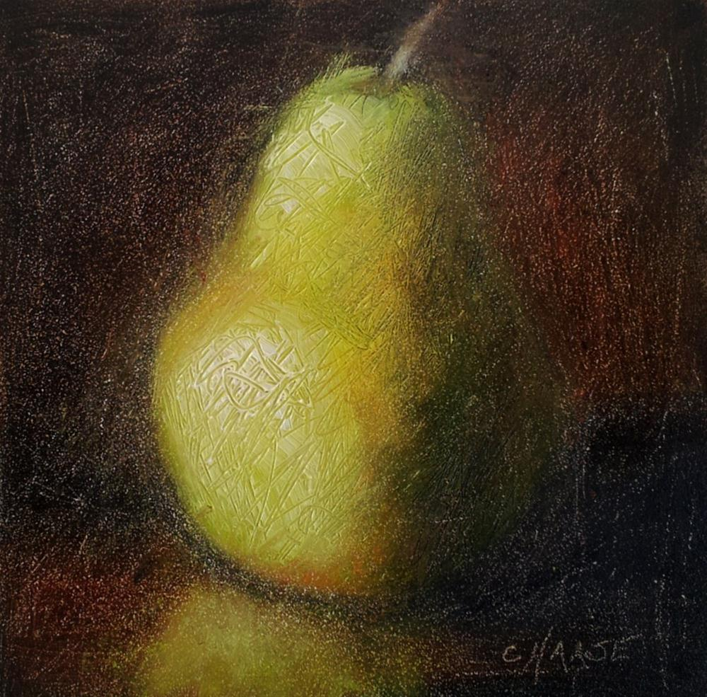 """Pear"" original fine art by Cindy Haase"