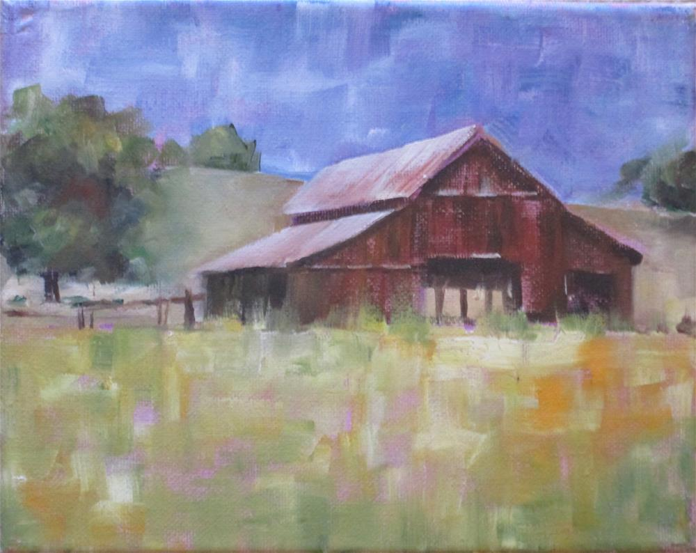 """Michigan Barn"" original fine art by Barbara Wagner"