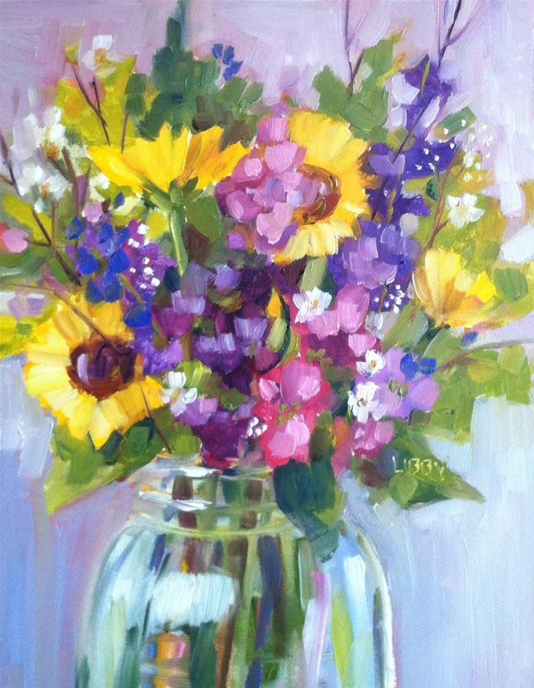 """""""Flower Explosion"""" original fine art by Libby Anderson"""