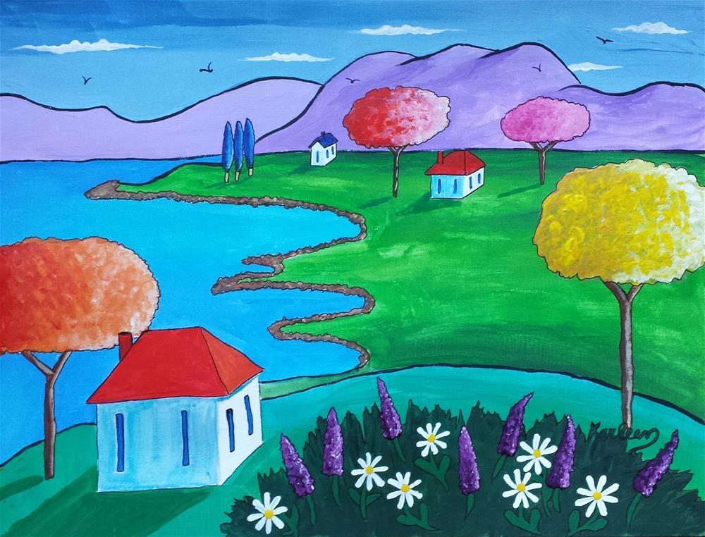 """Near the Coast"" original fine art by Karleen Kareem"