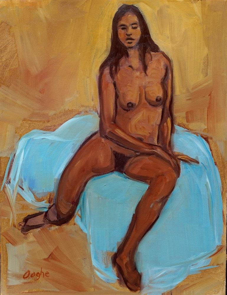 """""""Elsie"""" original fine art by Angela Ooghe"""